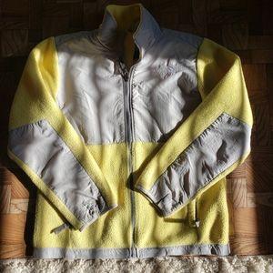 yellow northface jacket